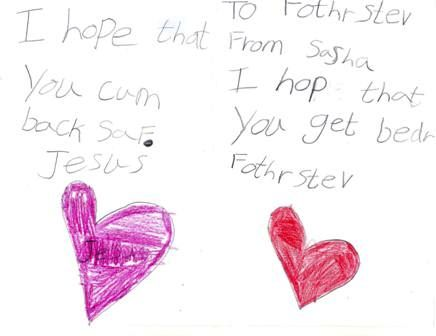 A get well card for Fr. Steve