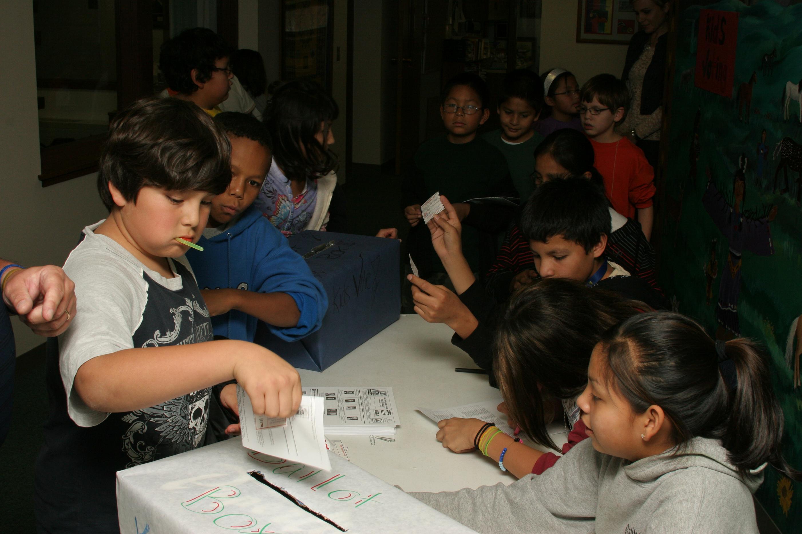 St. Joseph's kids voting!