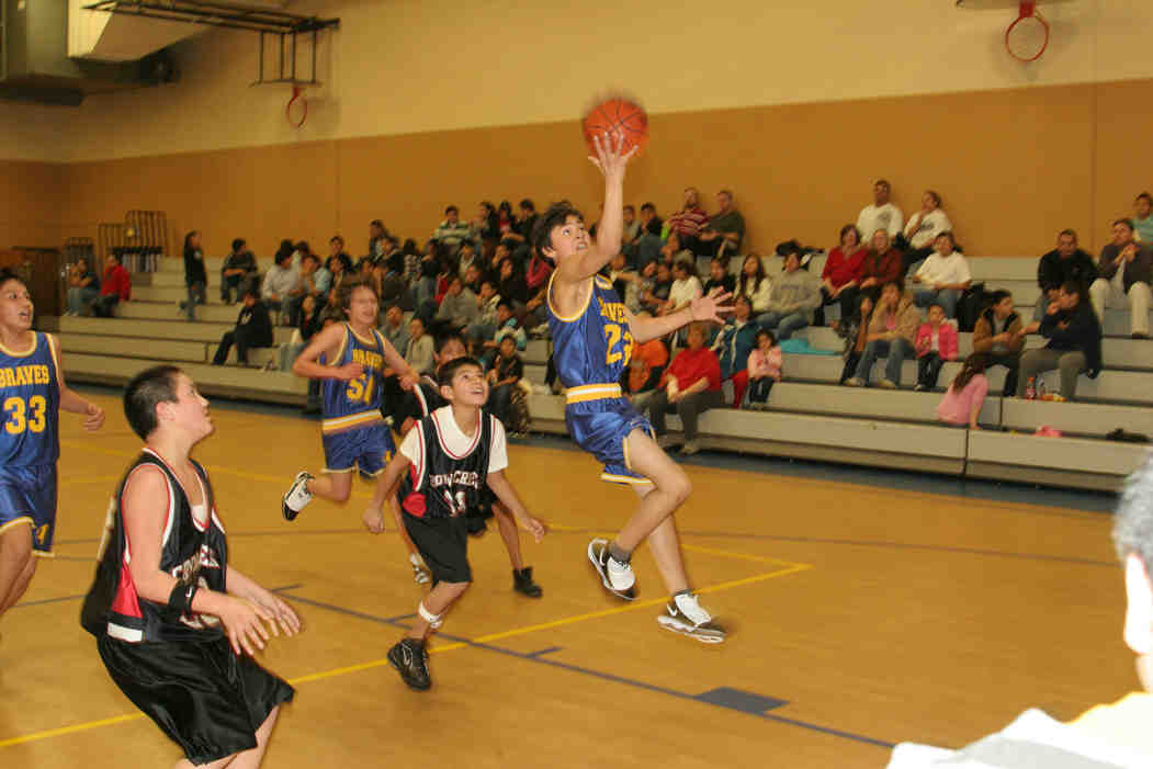 St. Joseph's Indian School - A day for basketball