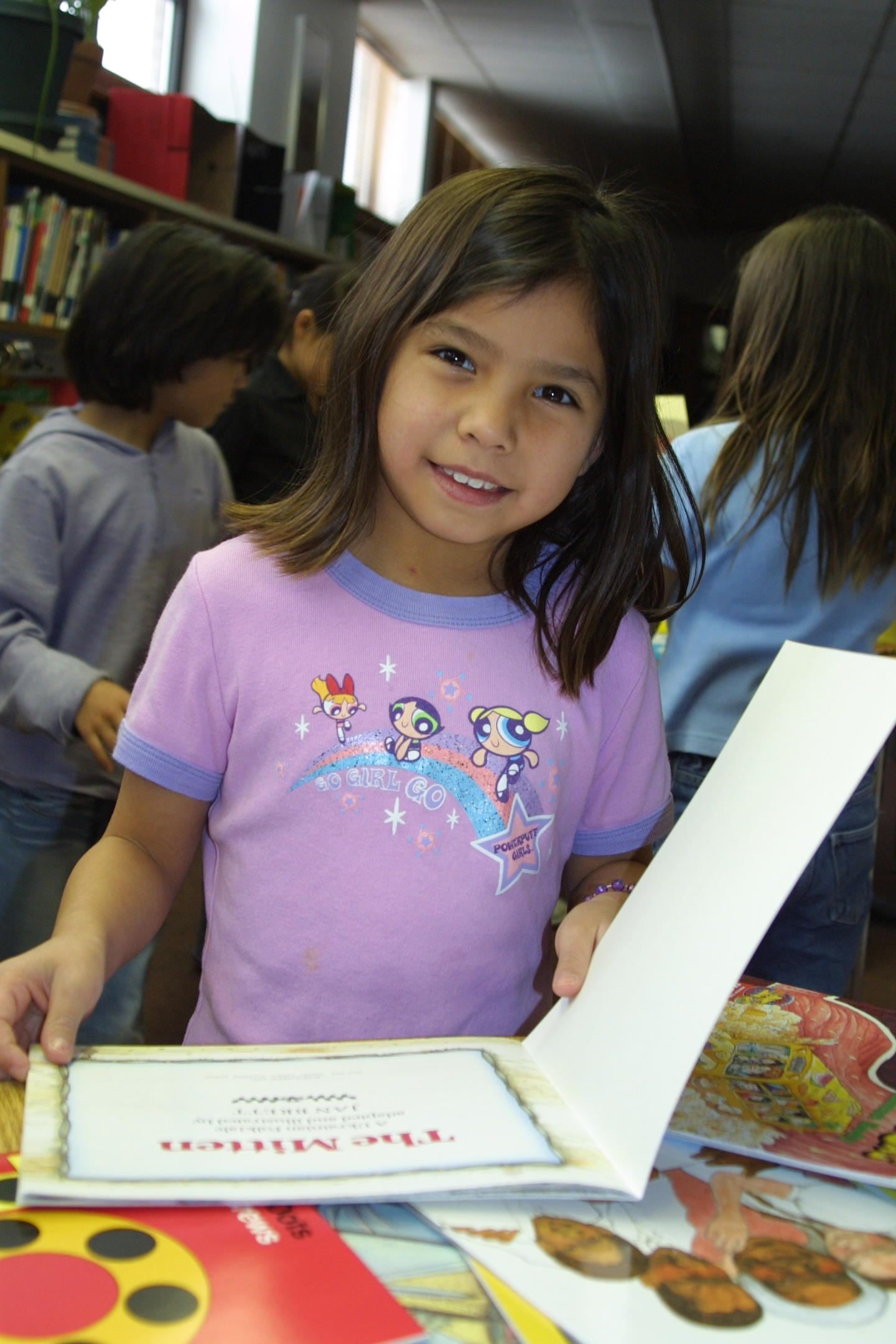 The Native American students love reading at St. Joseph's Indian School!