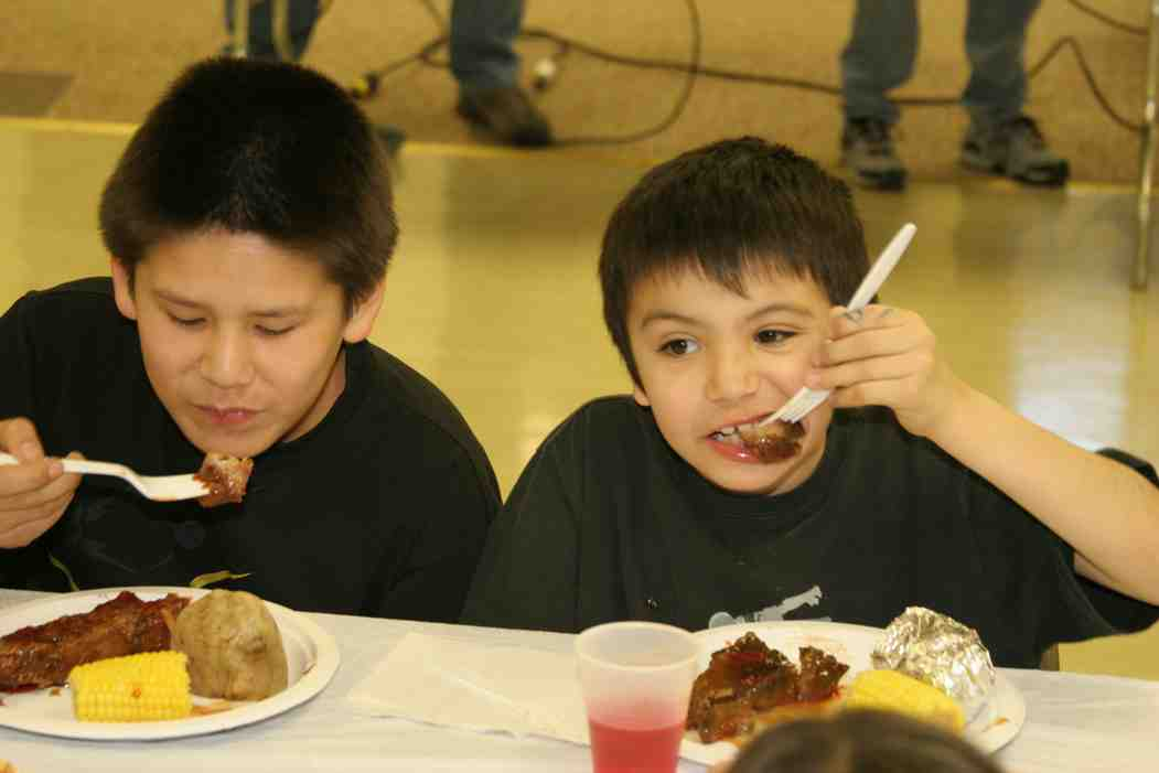 A Rib Fest at St. Joseph's Indian School.