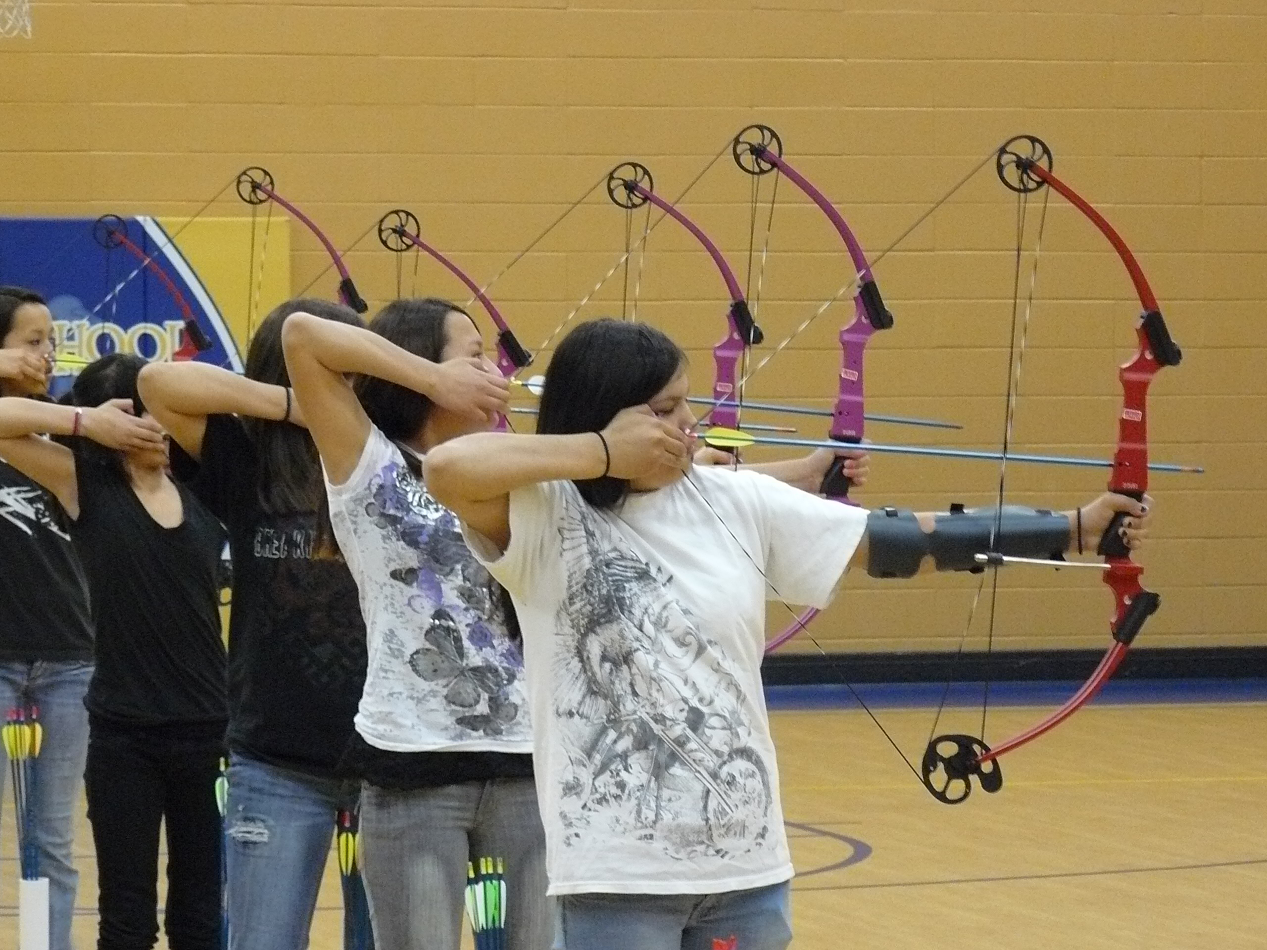 These American Indian girls have great archery skills!