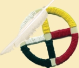 The Native American medicine wheel is a sacred symbol used by indigenous Plains tribes.