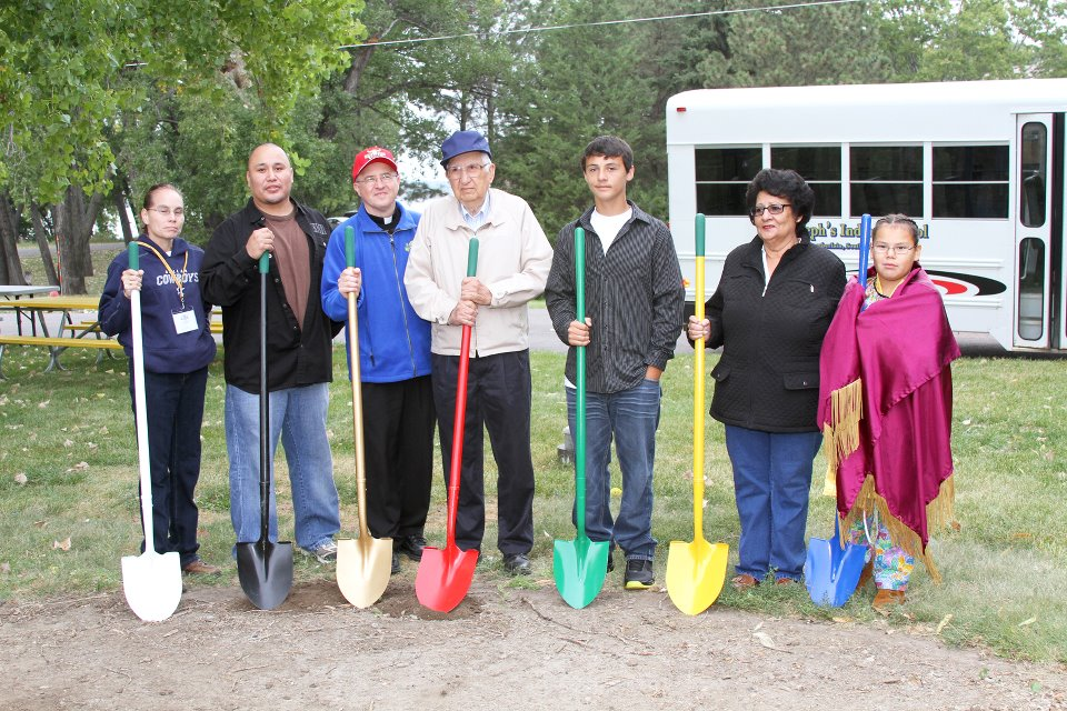 Akta Lakota Museum & Cultural Center's ground breaking ceremony.