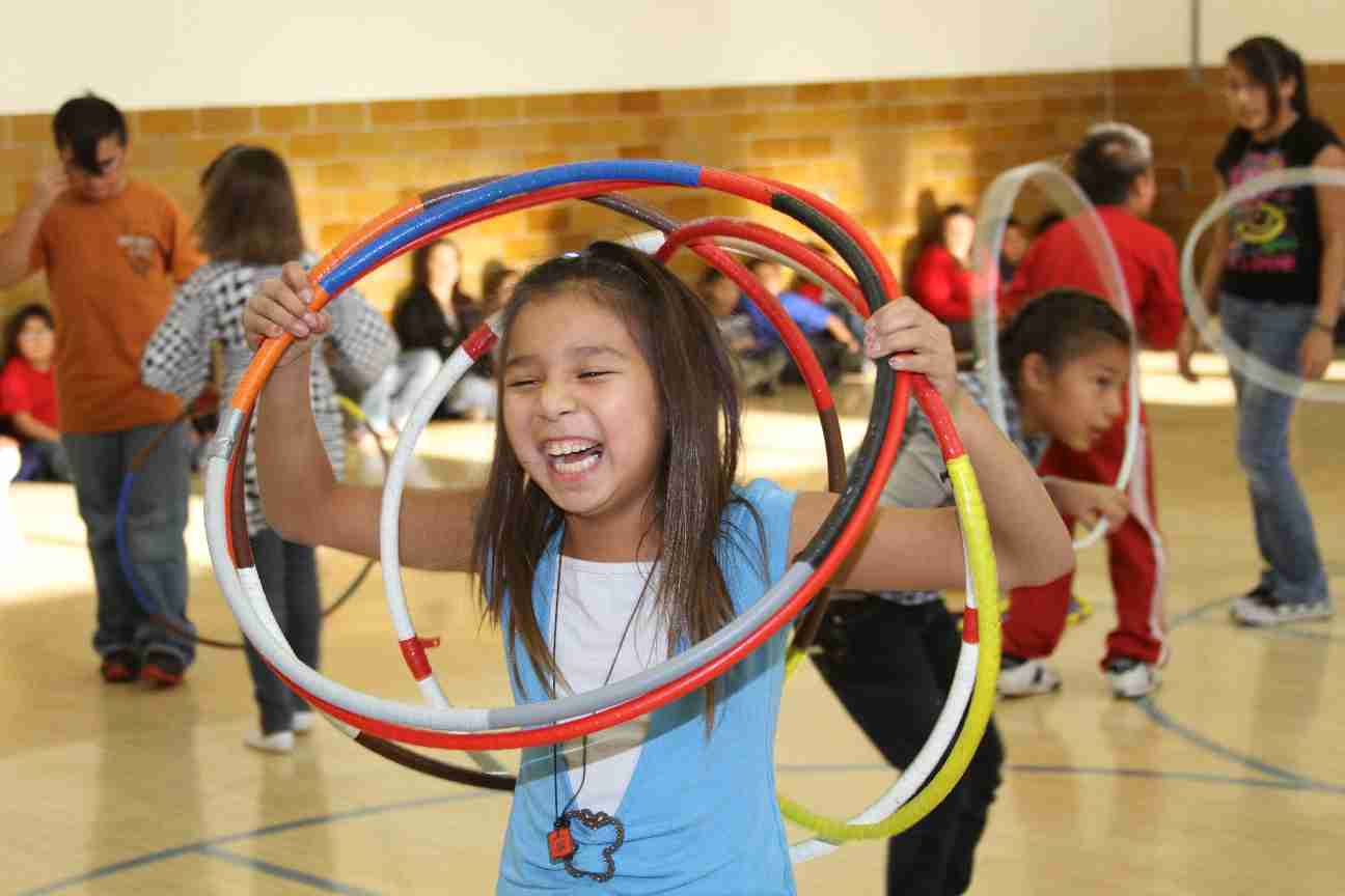 The kids were such great hoop dancers!