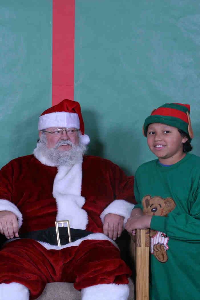 The youth at St. Joseph's Indian School had so much fun with Santa!