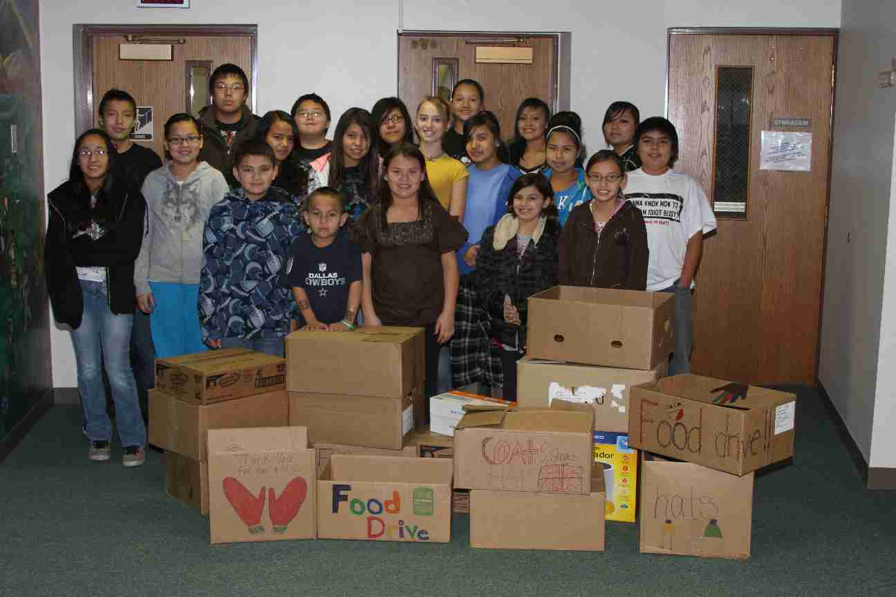 Our student leadership committee did a great job hosting their food/clothing drive!