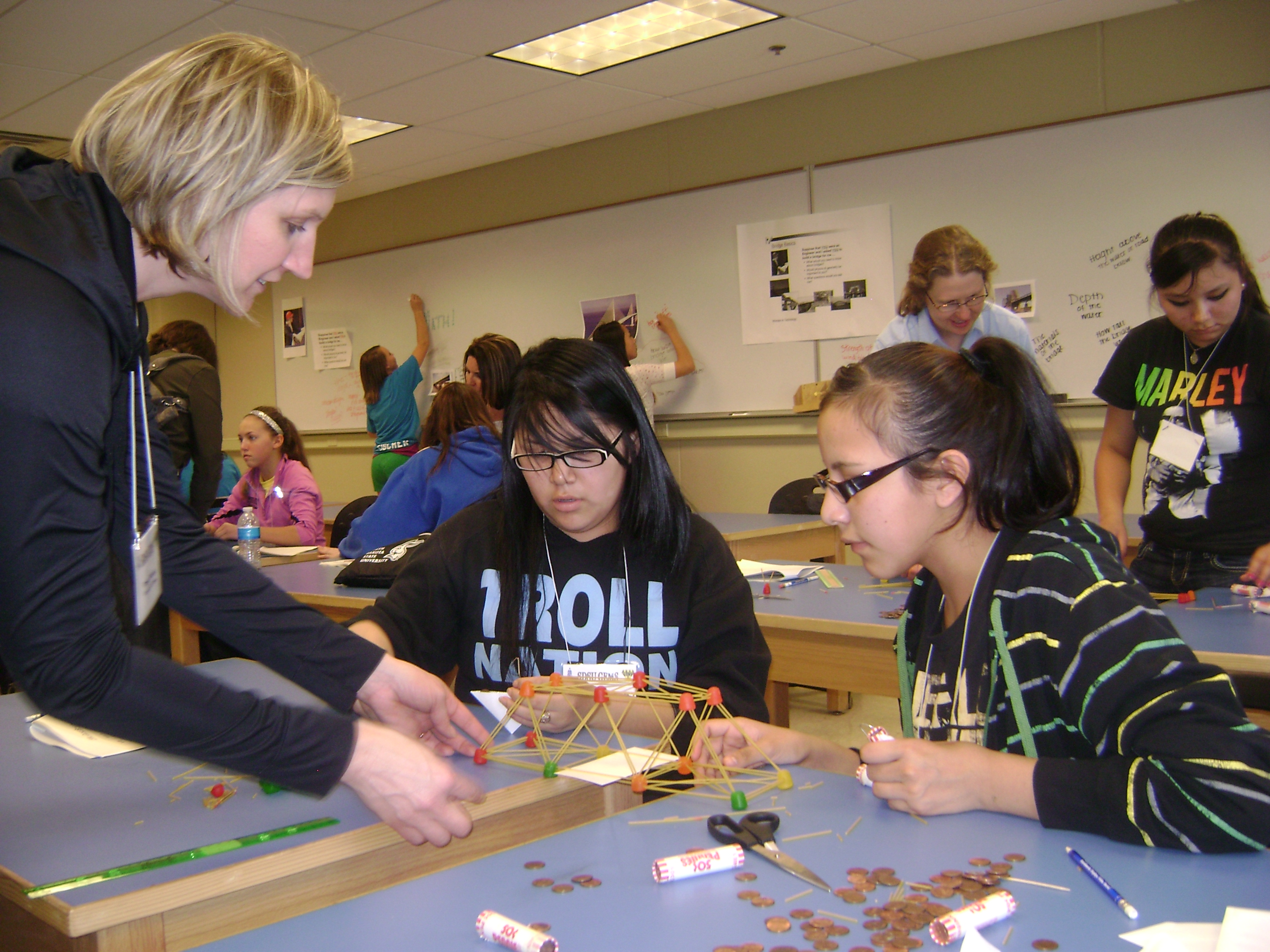 St. Joseph's Indian School kids attended Girls in Engineering, Math and Science workshop.