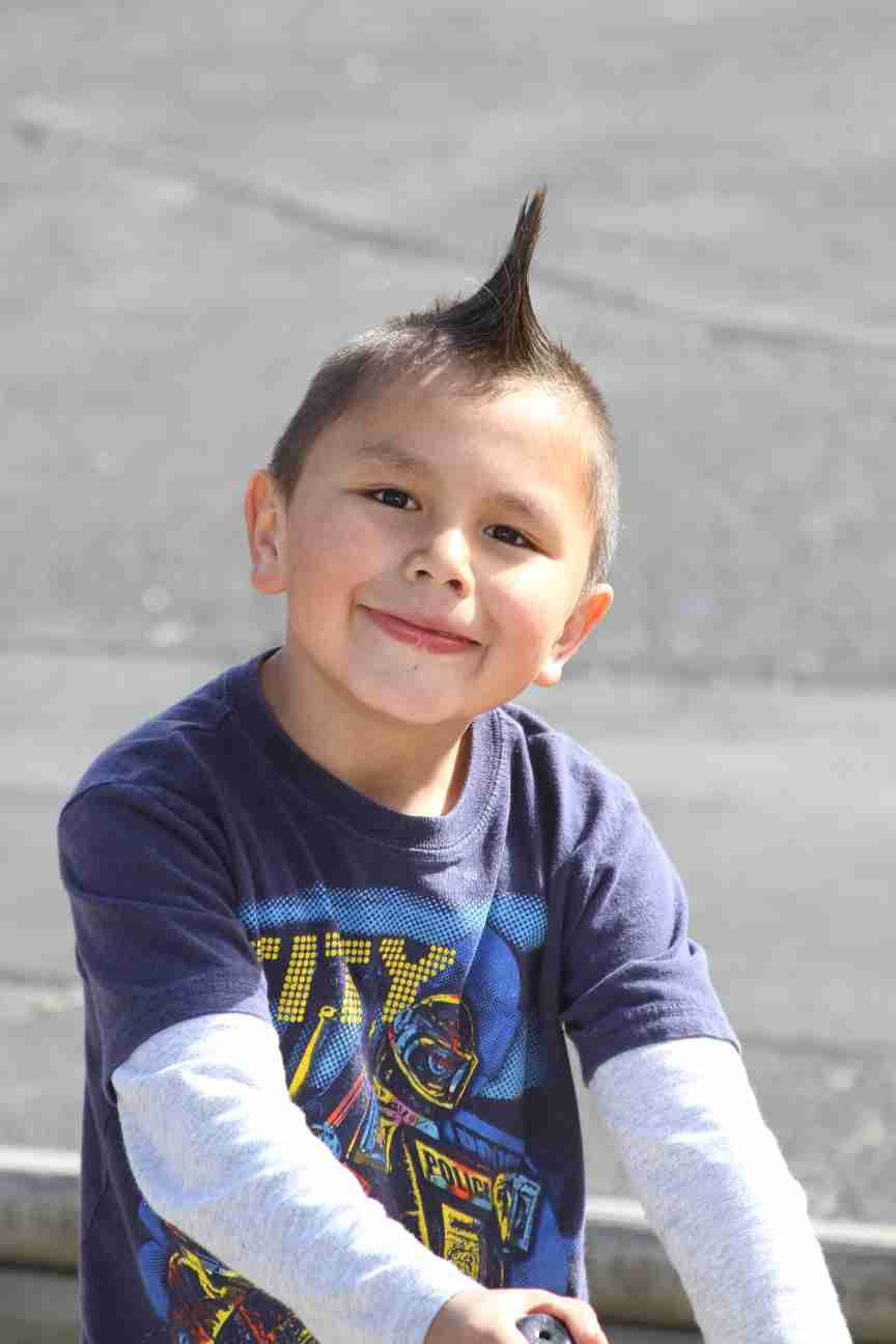 American Indian boy smiling in the sun!