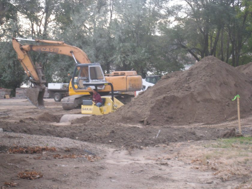 October 2011 – Contractor breaks ground on future site of the Alumni/Historical Center