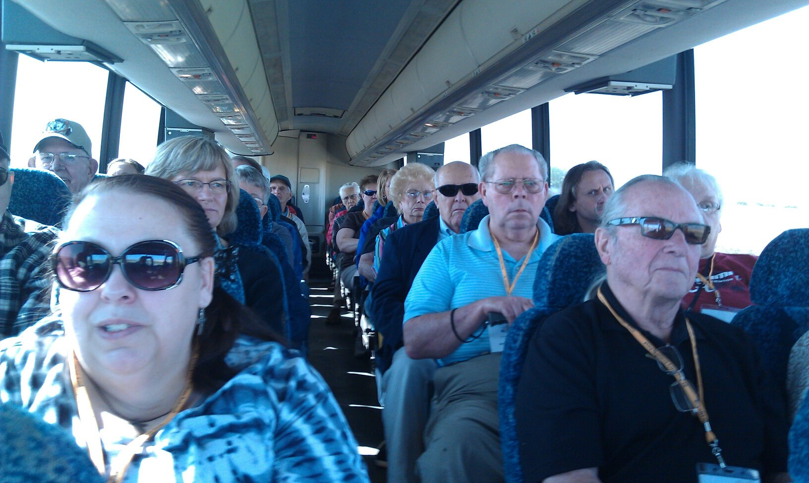 Indian reservation bus tour.