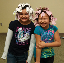 The Lakota girls participated in a community hair shop this weekend, and everyone got a new 'do!