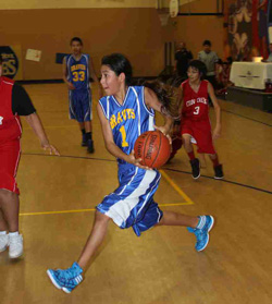 Basketball season is in full swing for the Lakota boys at St. Joseph's Indian School.
