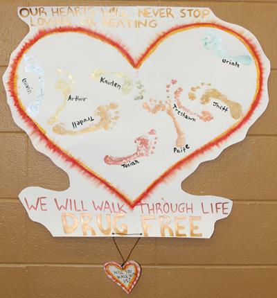The poster contest for the Sobriety Carnival offered inspiring messages for living drug free.