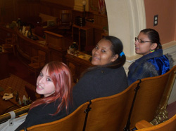 The Lakota students found the Senate chambers very interesting.