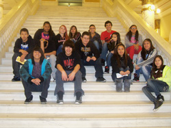 St. Joseph's eighth-grade students had a great time visiting Pierre!
