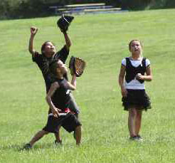 The Lakota children play on T-ball teams in the spring.