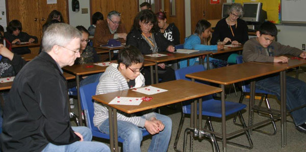 Mission Education visitors spent time with the Lakota children in their classrooms at St. Joseph's.