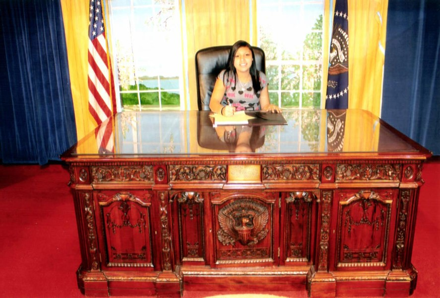 The Lakota students visited the Oval Office.