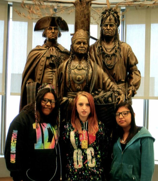 The Lakota students enjoyed the National Museum of the American Indian.