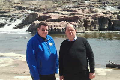 Fr. Anthony and Fr. Jose, enjoyed a visit to a waterfall in South Dakota.