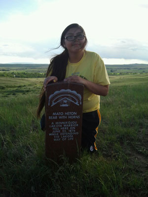The Lakota students visited the site of the Battle of the Little Bighorn.