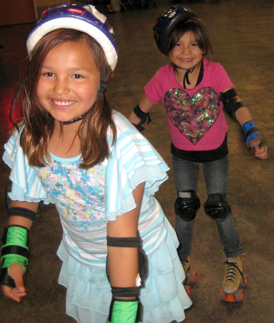 The Lakota students and their mentors went roller-skating as their last get-together of the year.