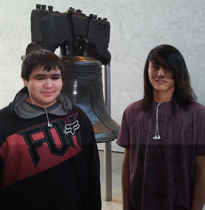 Seeing the Liberty Bell helped history come alive for the Lakota boys.