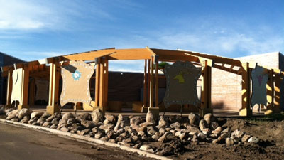 The Medicine Wheel Garden of Healing at the Akta Lakota Museum & Cultural Center is nearly complete.