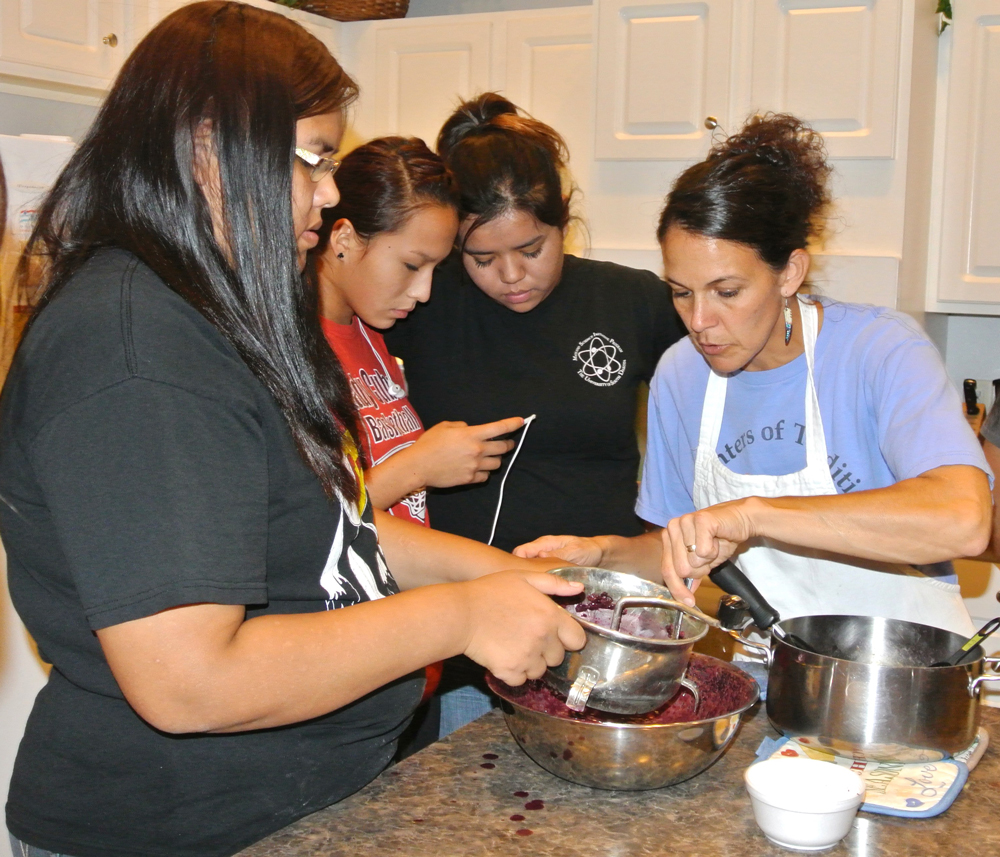 St. Joseph's high school girls held an Inipi ceremony, which is the Lakota rite of purification.
