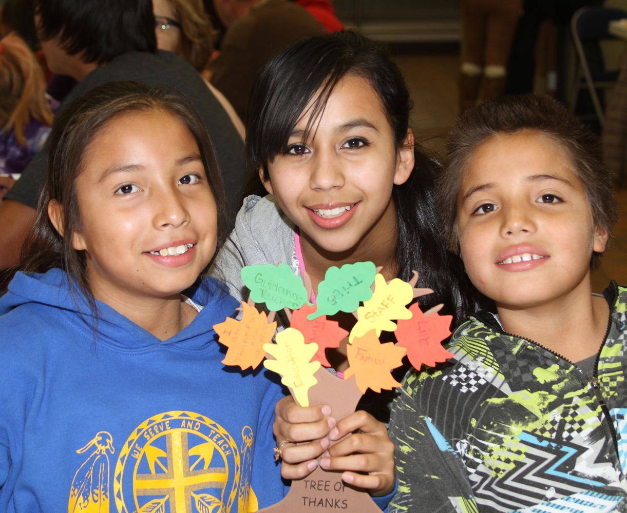 The Native American children at St. Joseph's celebration Family Night every year.