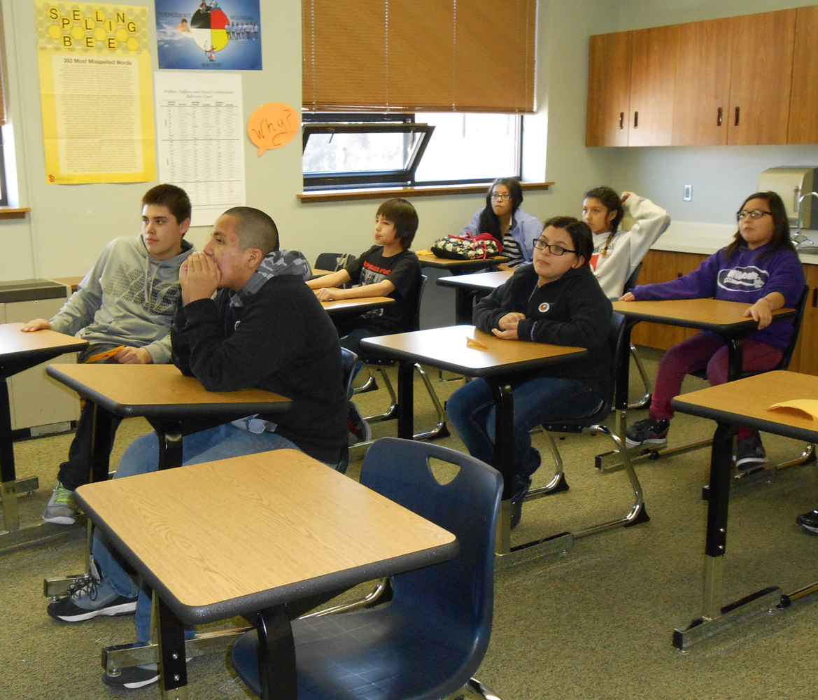 St. Joseph's Lakota students study reading, science, math and other core subjects.