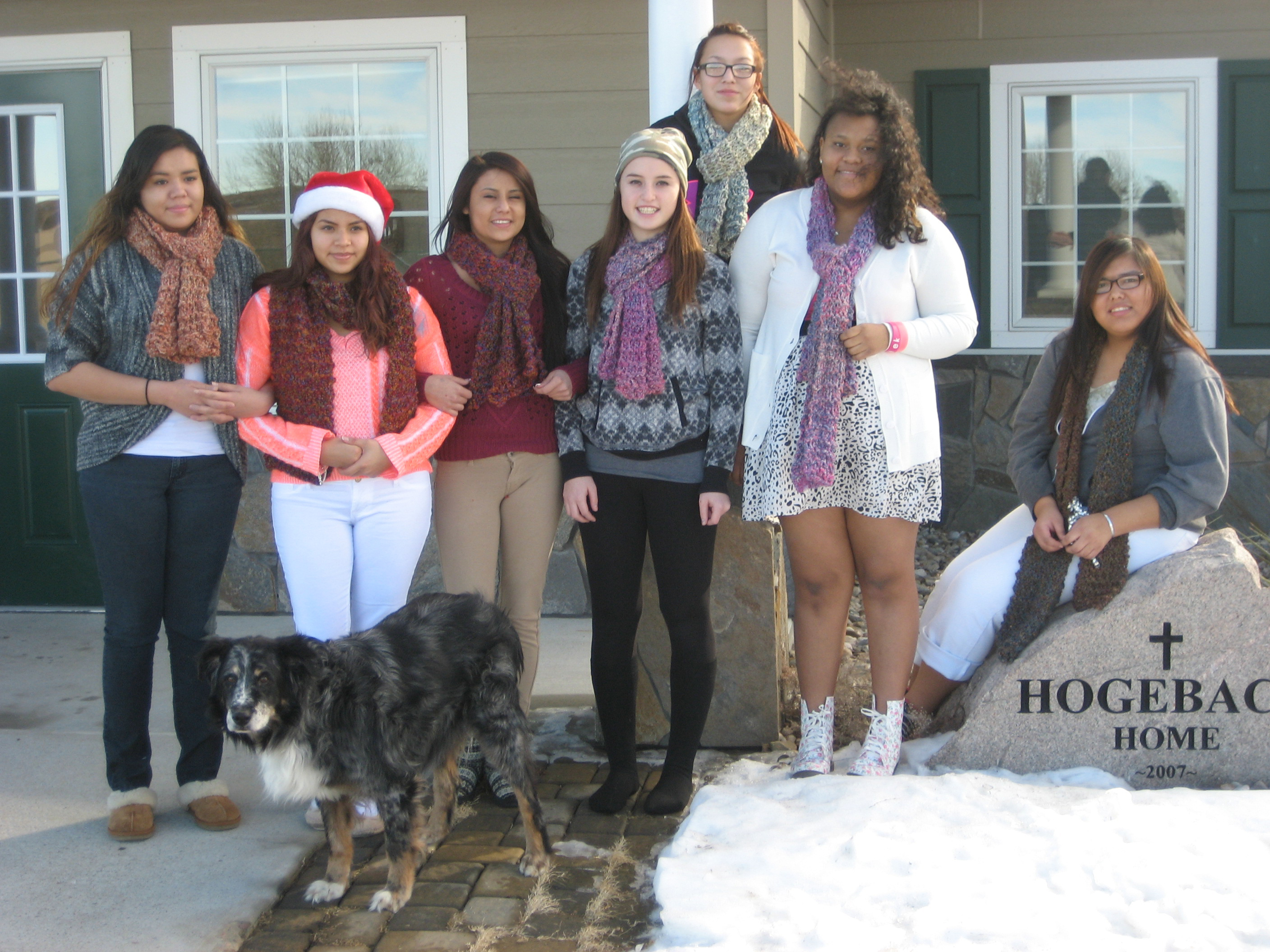 There are two freshmen and six upperclassmen in St. Joseph's Hogebach Home.