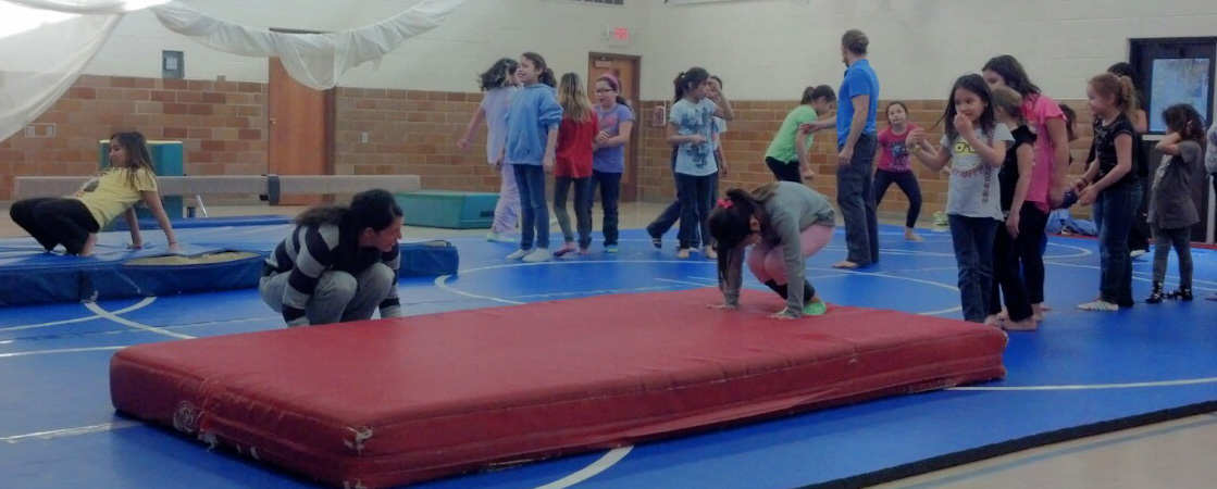 The Lakota (Sioux) children participate in a variety of activities, including gymnastics.