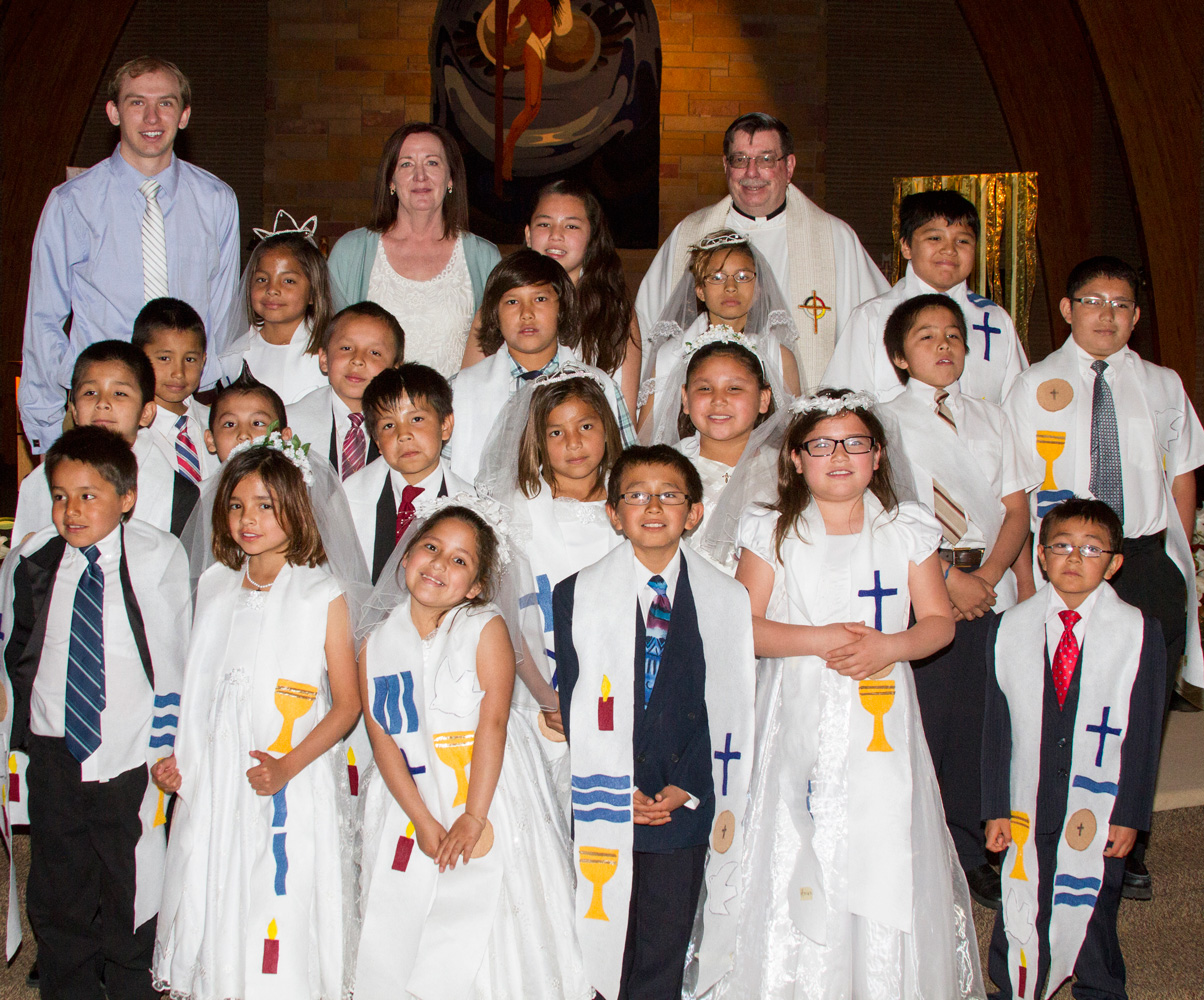 With the support of their families, St. Joseph's students prepared for and received the Sacraments of Baptism, Holy Communion and Confirmation on Sunday, April 27.