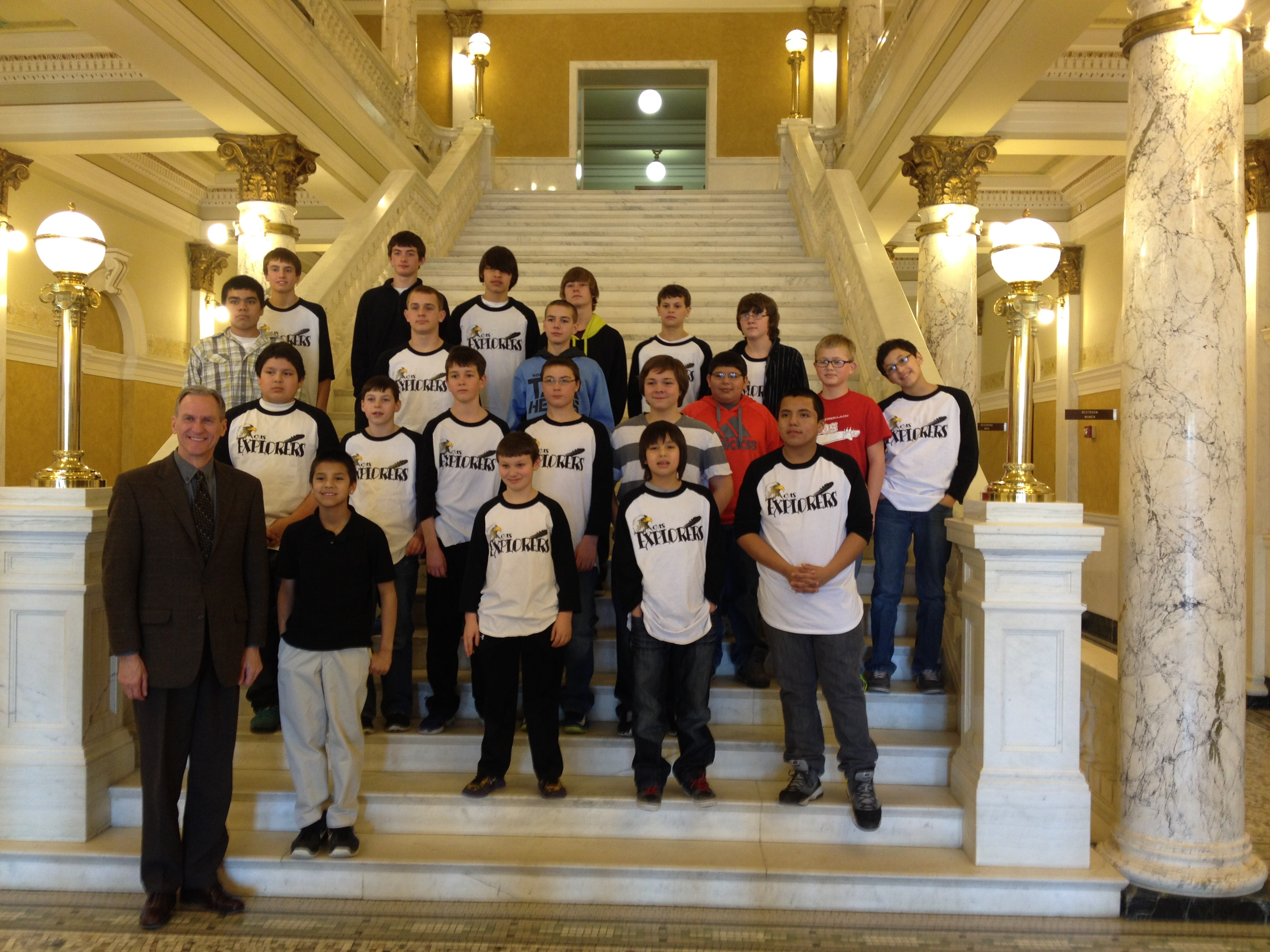 The Explorers got to meet South Dakota Governor Dennis Daugaard.