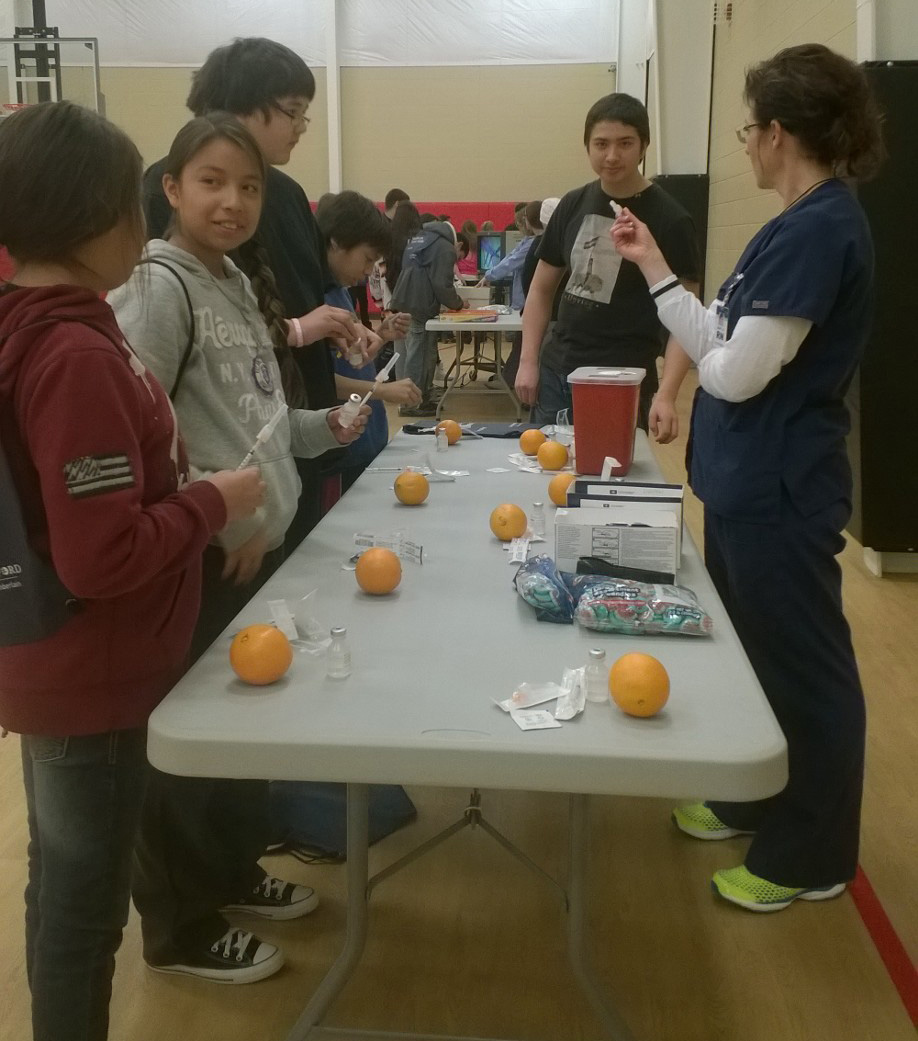 Camp Med offered a host of medical-related booths to give the Lakota students a hands-on idea about careers in healthcare.