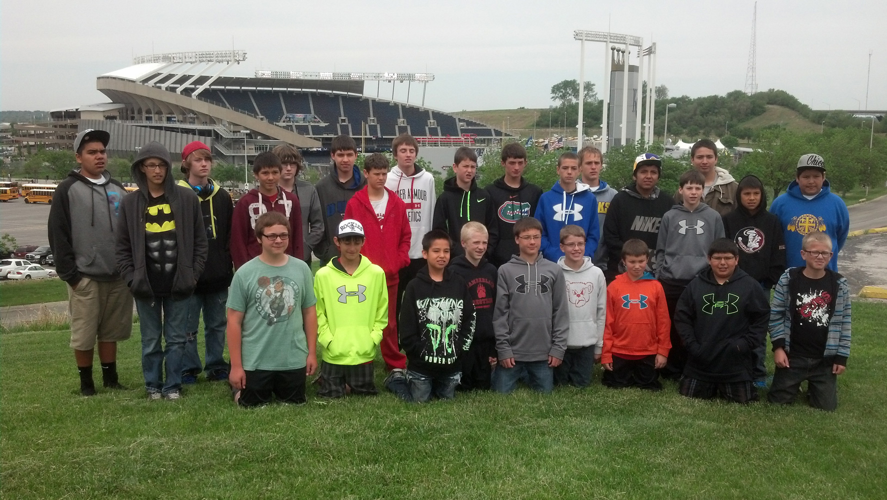 The Explorers took their annual trip to see a baseball game in May 2014.