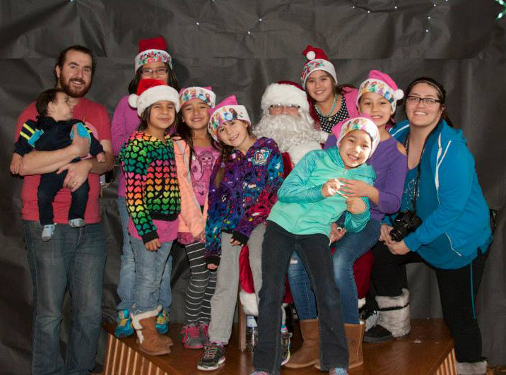 The students took group and individual pictures with Santa.