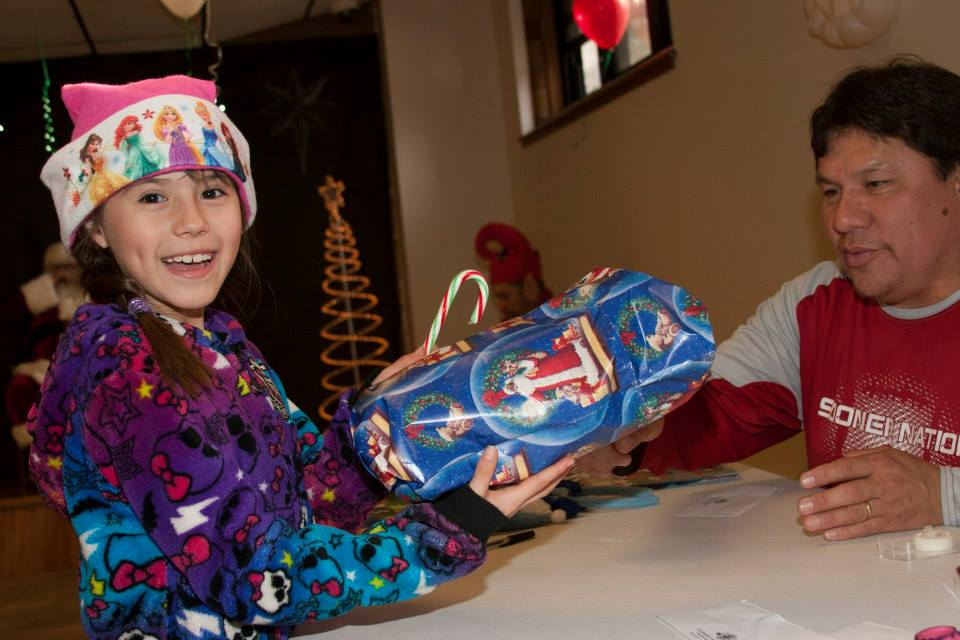 All the students choose a gift for someone in their family at St. Joseph's Christmas store.