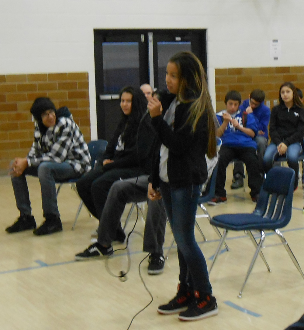 St. Joseph's Indian School participates in a spelling bee each year.