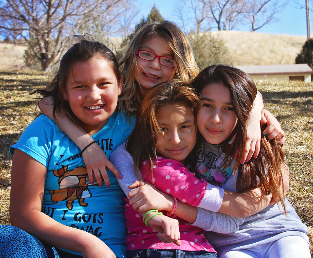 The Lakota children are excited to spend more time outside now that spring has arrived at St. Joseph's.