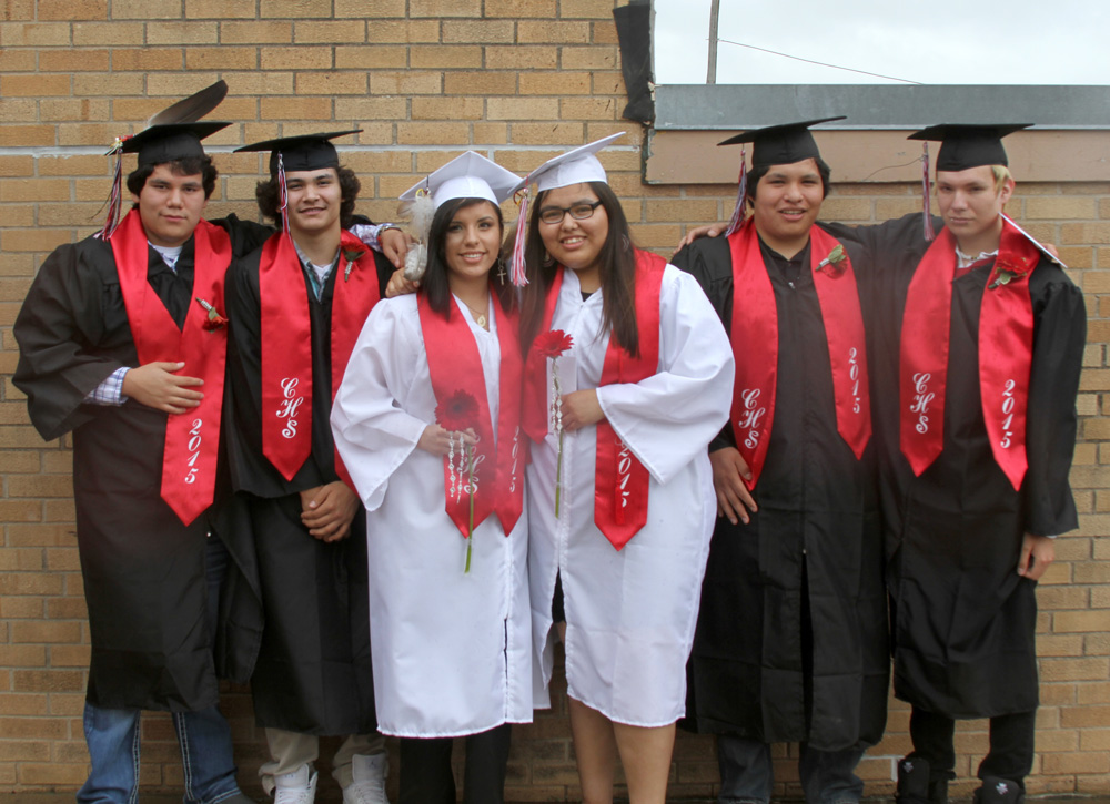 Six St. Joseph's seniors graduated with the Chamberlain High School Class of 2015.