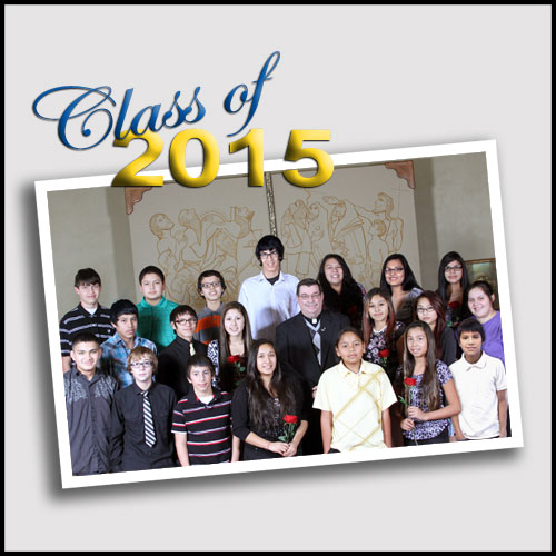 19 Lakota students graduated from eighth grade at St. Joseph's Indian School on May 22, 2015.