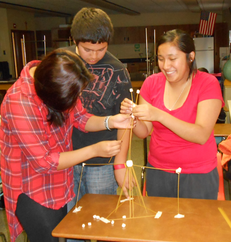 Design, creation and problem solving skills all went into the tower-building activity.