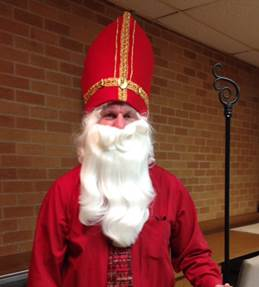 President Mike dressed as St. Nick!