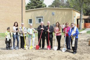 St. Joseph's staff break ground on new health facility.