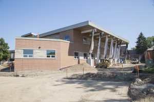 Construction nears completion on new health facility.
