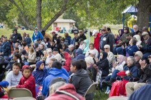 Powwow crowd